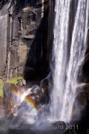 Vernal Falls double rainbow