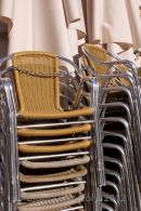 Stacked chairs