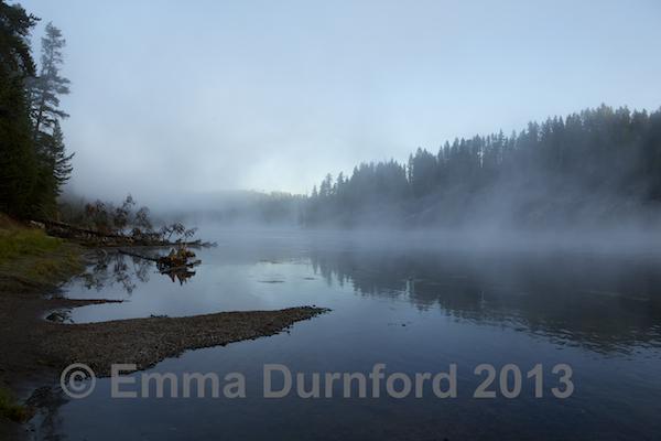 Yellowstone River at dawn