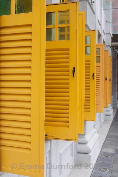 Yellow shutters!