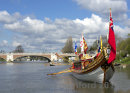 The Gloriana on the river Thames