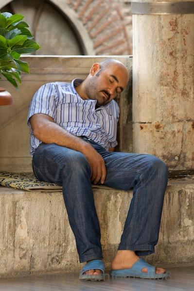 Sleeping caretaker