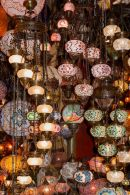 Mosaic glass lamps