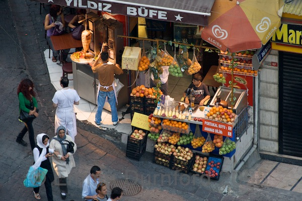 Fruit and juice stall