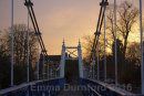 Teddington Footbridge and the Anglers pub