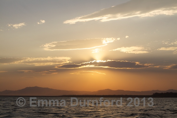 Sunset over the Irrawaddy