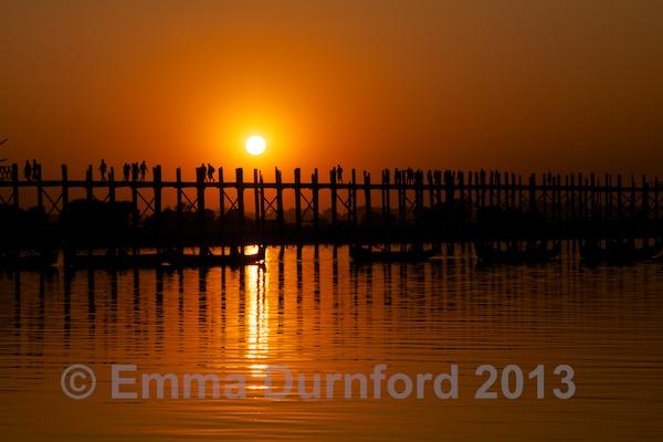 Sunset over the U Bein bridge