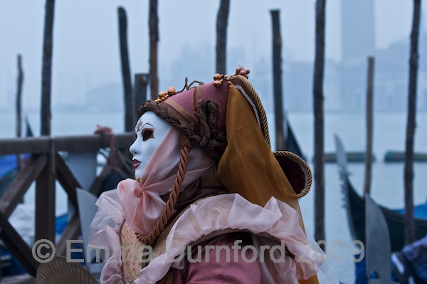 Dawn during the Carnival in Venice