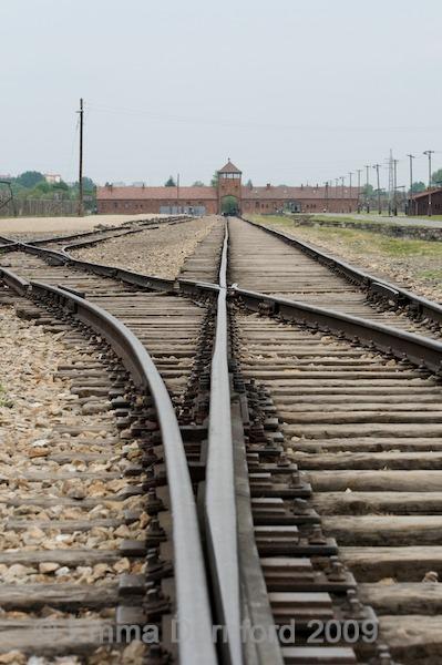Railway track to Auschwitz 2 - Birkenau