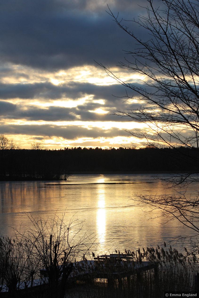 Frozen sunset