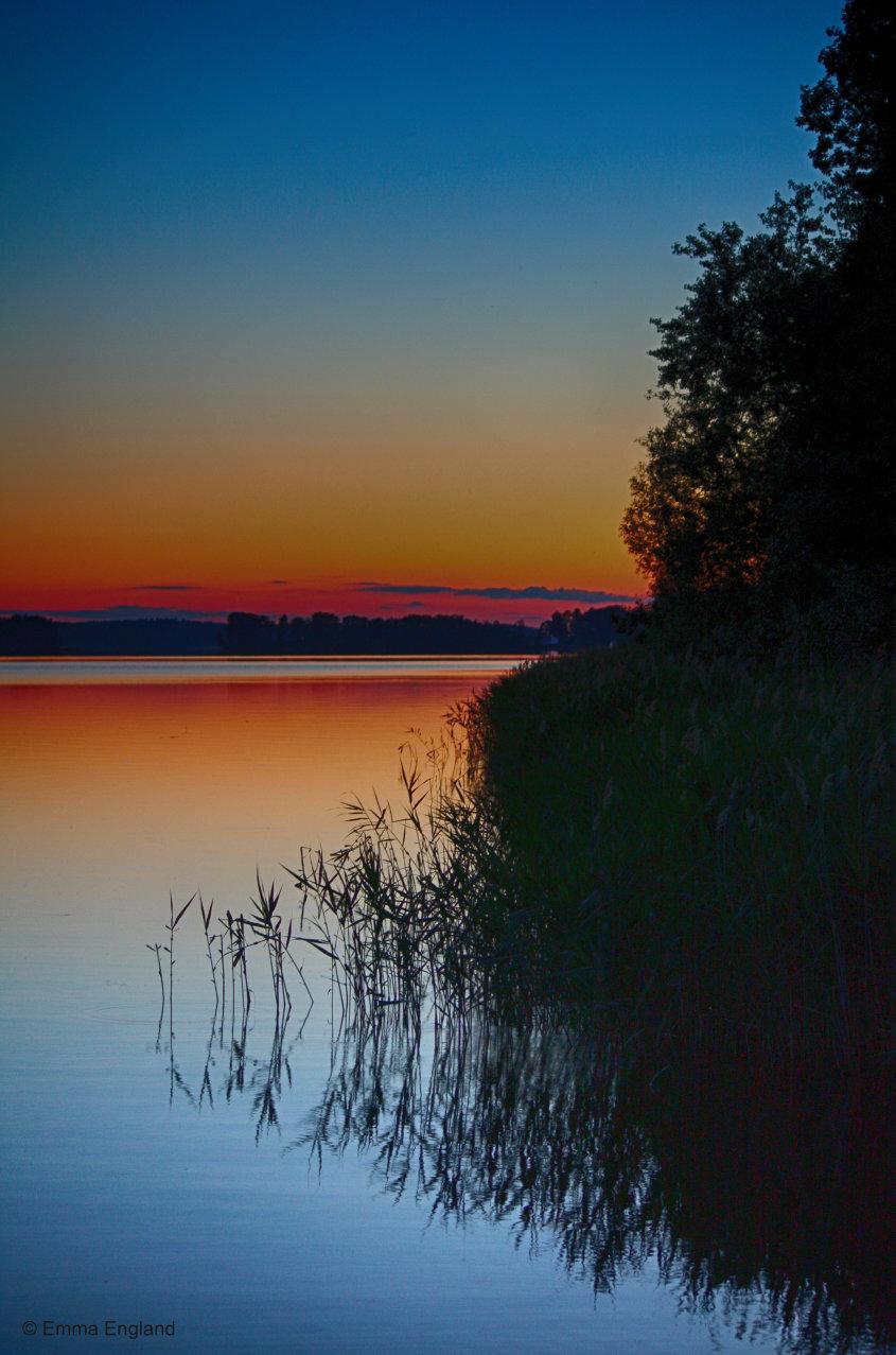 Midsummer sunset