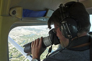 Shooting aerials over Meijendel while on assignment. Photo courtesy of Hans van EG.