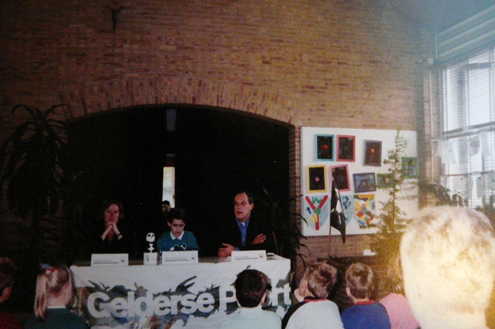 Back in the day... Bart (age 12) in the middle of the table during a WWF press conference, announcing the opening of a new part of 'De Gelderse Poort'