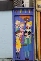 Cartoon door.