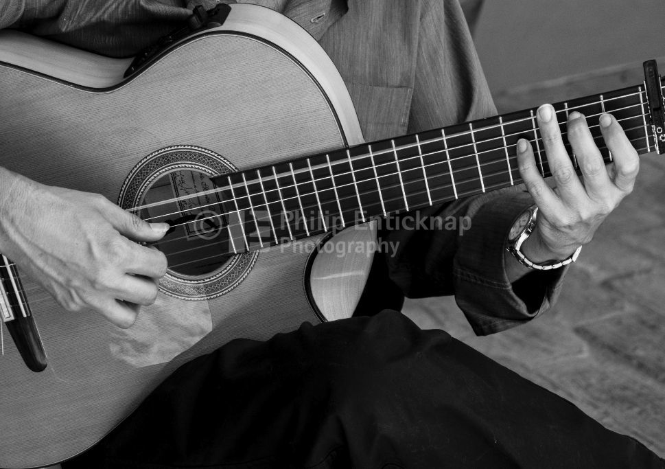 Acoustic Guitar being played
