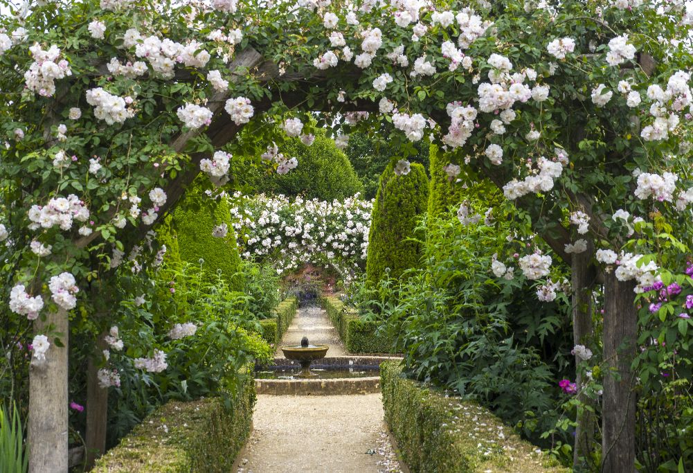 Rose Garden at Montrisfont Abbey, Romsey,Hampshire