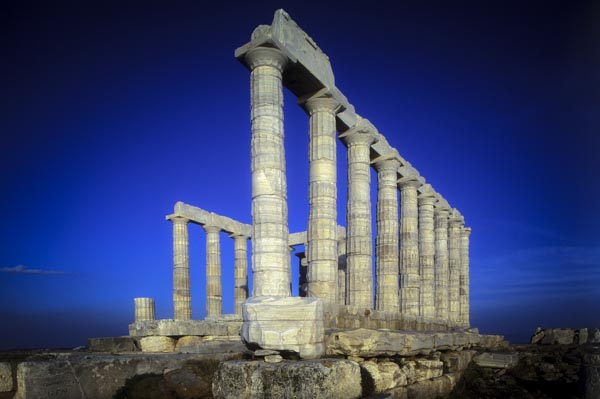 Posidons Temple, Cape Sounion,Attica ,Greece