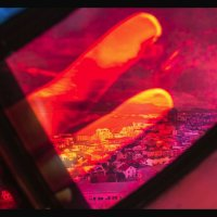 Reykjavik Seen Through a Stained Glass Window by TREVOR HYDE -