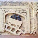 Detail, Wagon Way,  Alloa Heritage tile panel, Alloa Family Centre, Clackmannanshire