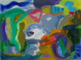 'Forms,'  2012, Oil and acrylic on canvas, 30cm x 40cm