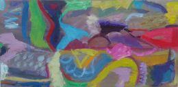 'Terrain,'  2012, Oil and acrylic on board, 61cm x 31cm