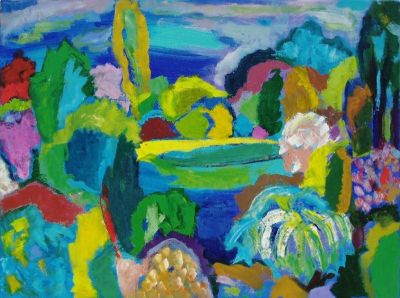 'April.' Oil and acrylic on board. 61cm x 45cm. 2010