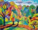 'Autumn, Late Afternoon, 2.' Oil and acrylic on canvas, 2008 61cm x 45cm