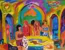 'Fiona in the Turkish Baths.' Oil on board, 2007