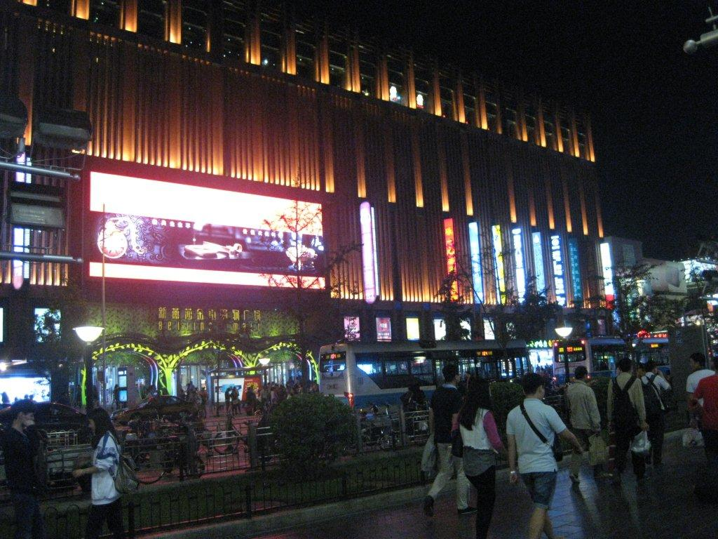 The Beijing shopping area