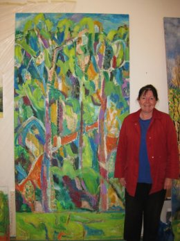Fiona with 'Journey Through Trees.'