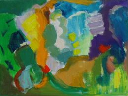 'Spring Valley,'  2012, oil and acrylic on canvas, 30cm x 40cm