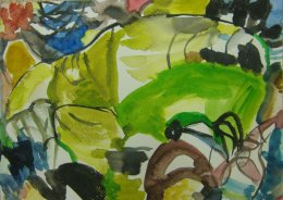 'Paint-Poem,' (Greens)