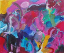 'Paphos Memory.'  2011, Oil and acrylic on canvas, 75cm x 65cm