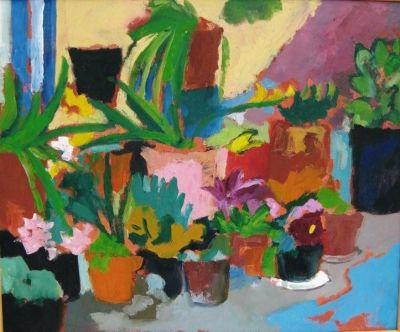 'Pots on my Balcony.'<br>