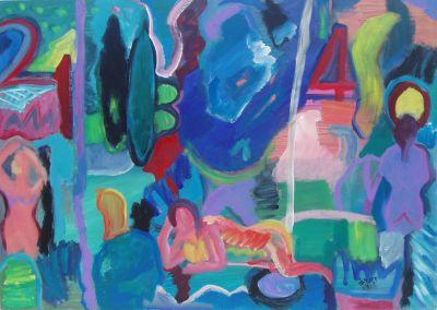 'Chances.' 2010<br> Oil & acrylic on board, 70cm x 40cm