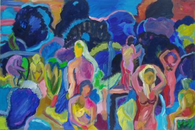 'Women and Carob Trees, Evening.' 2010<br>