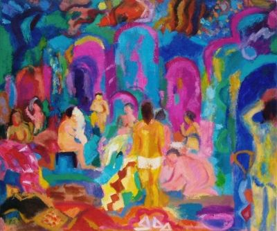 Women in the Turkish Baths<br>