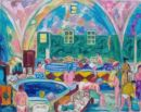 'Women in the Rest Area of the Baths.' Oil on canvas