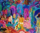 Women in the Turkish Baths Oil on canvas 96cm x 72cm