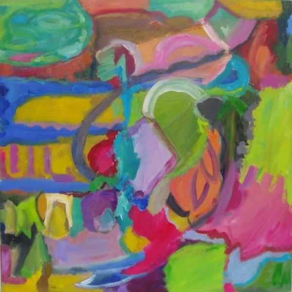 'Park Ensemble,' 2012, Oil and acrylic on canvas, 75cm x 75cm