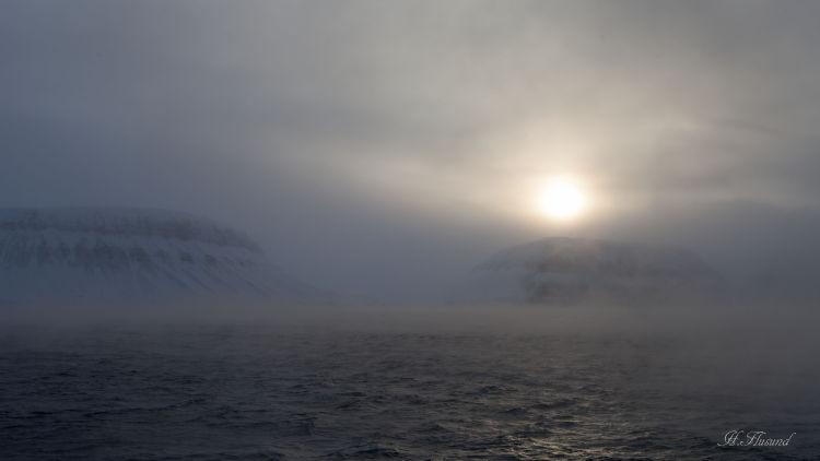 Frostrøyk ved fuglefjella