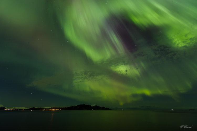 Nordlys over Sandsøya