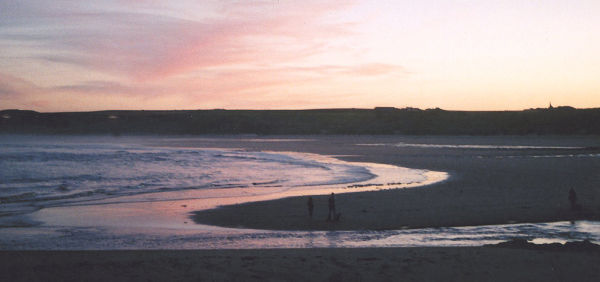 Cruden Bay beach. The Ladies Bridge over the Water of Cruden; Bram Stoker and the Kilmarnock Arms Hotel; the Buchan Divers; Tartan Army; Winston Churchill; crude in the Bay; nudists; Peter Pan.