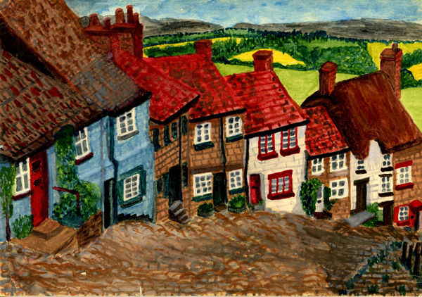 Gold Hill painting