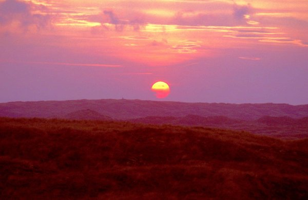 Forvie Moor - autumn sunset
