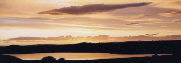 Sunset sky over Sand Loch