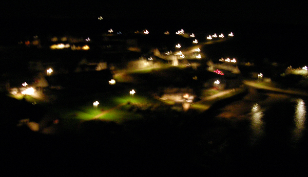 Lowtown at night