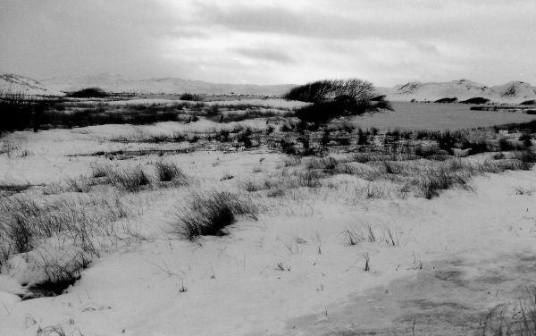 Winter scene, towards Sand Loch