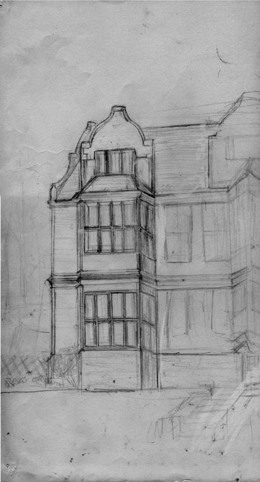 Charlton Court - pencil drawing