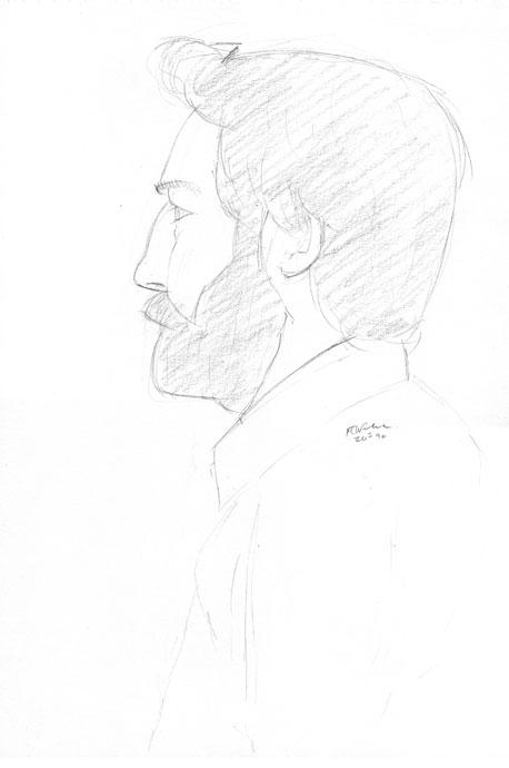 Portrait - Joel - Croydon Life Drawing Group - pencil